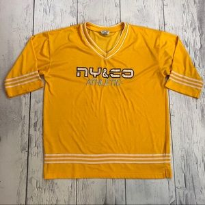 Vintage NY&Co athletic hockey jersey xl